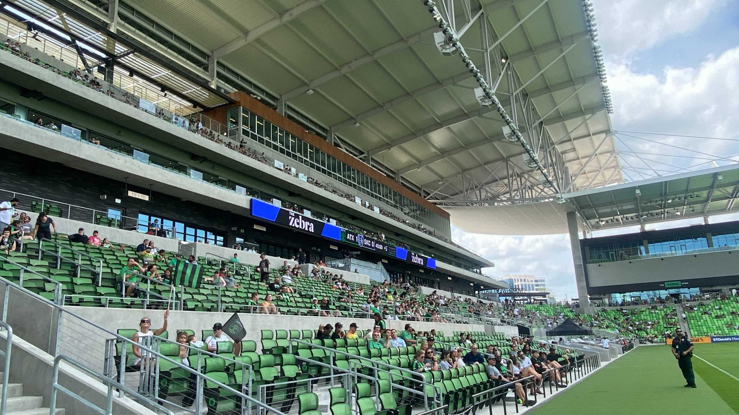 Watch Party at Q2 Stadium for Austin FC's match against Sporting KC (KXAN Photo/Todd Bynum)