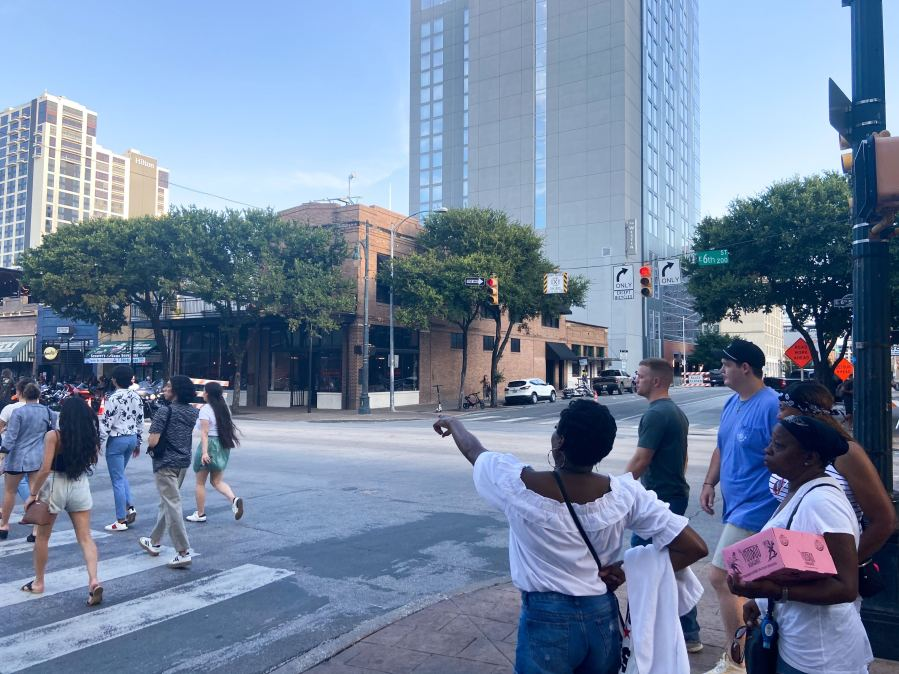 East 6th Street the afternoon after a mass shooting took place early Saturday morning (KXAN Photo/Clare O'Connor)