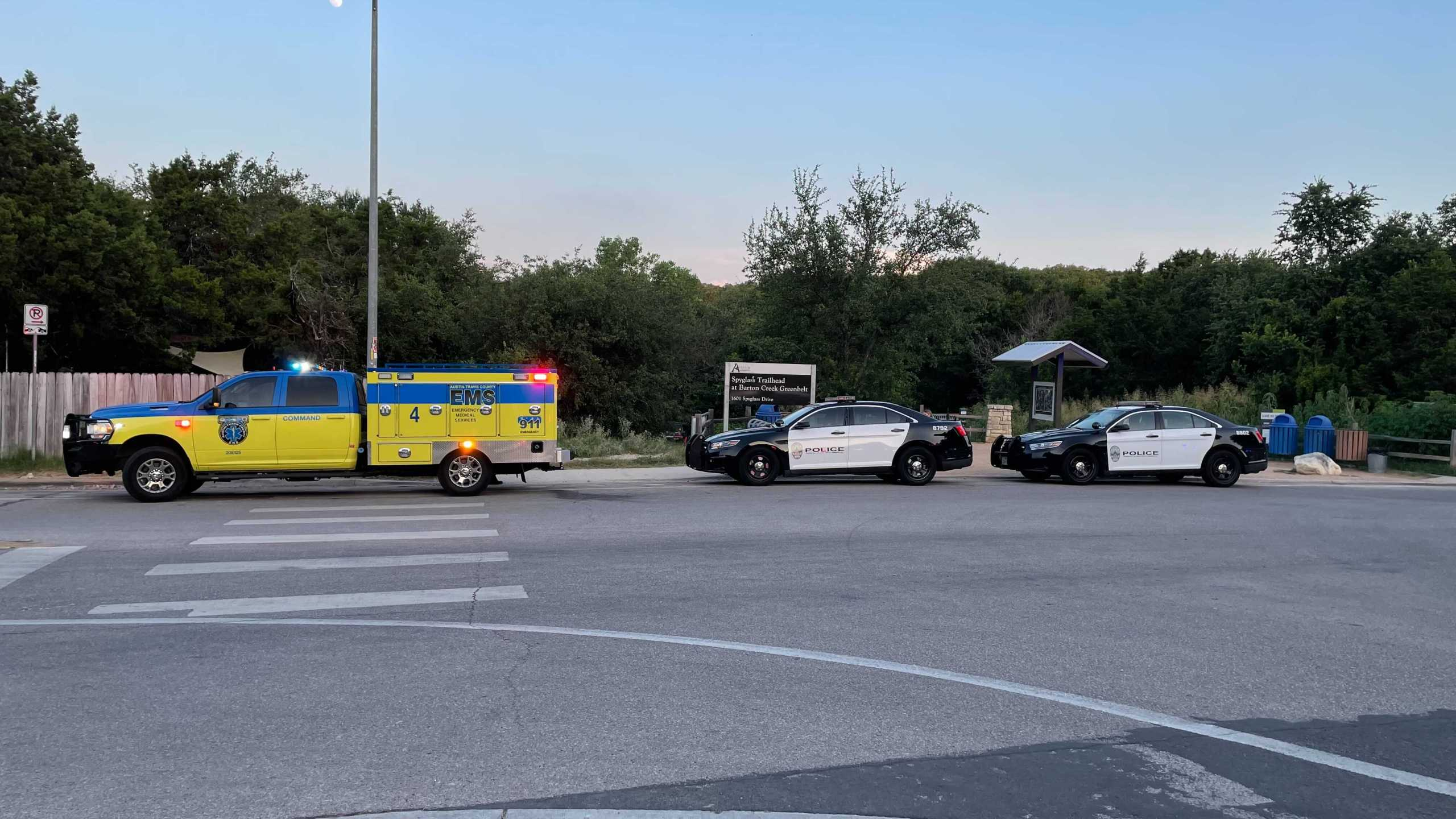 One person died at Barton Creek Greenbelt on June 22, 2021, after reports they fell about 30 feet (KXAN Photo/Tim Holcomb)