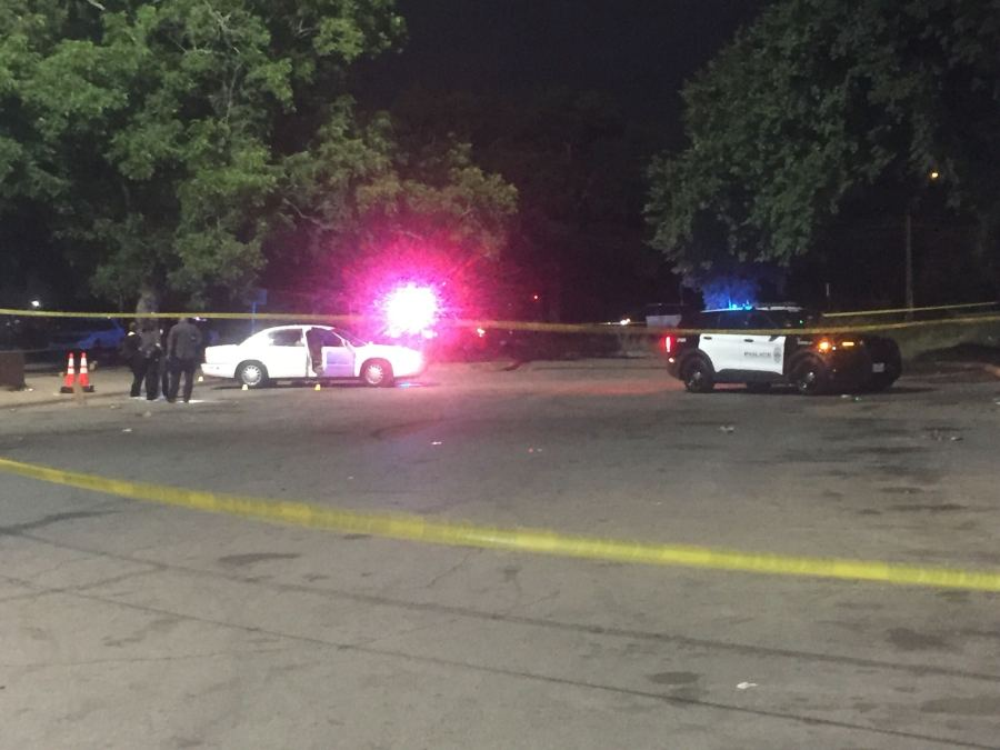 One man was found shot at Givens Park in east Austin June 23, 2021. He later died at the hospital, police said. (KXAN Photo/Juan Salinas)
