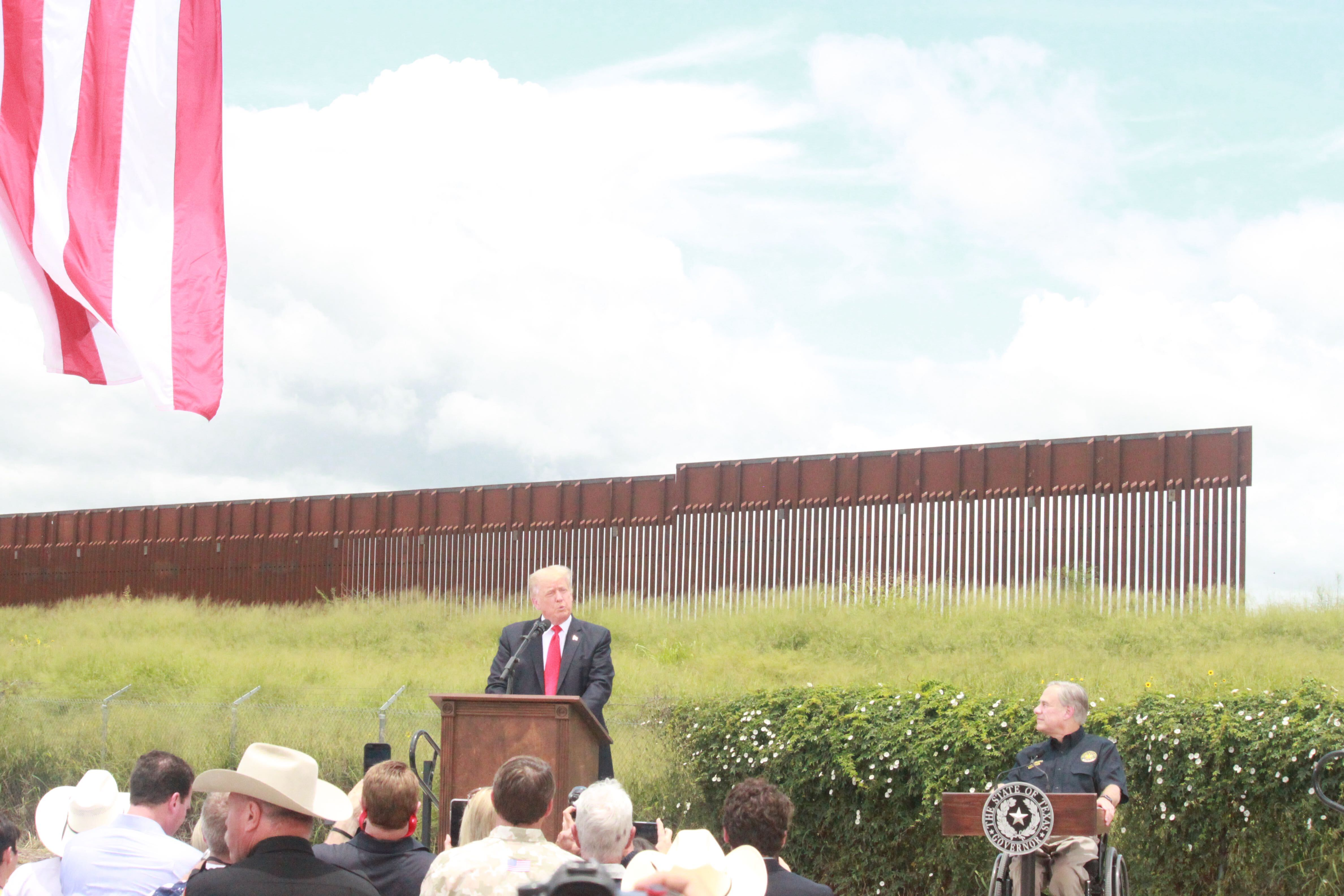 Former President Donald Trump and Gov. Greg Abbott were in the Rio Grande Valley Wednesday to discuss immigration and border issues (Nexstar/Wes Rapaport)
