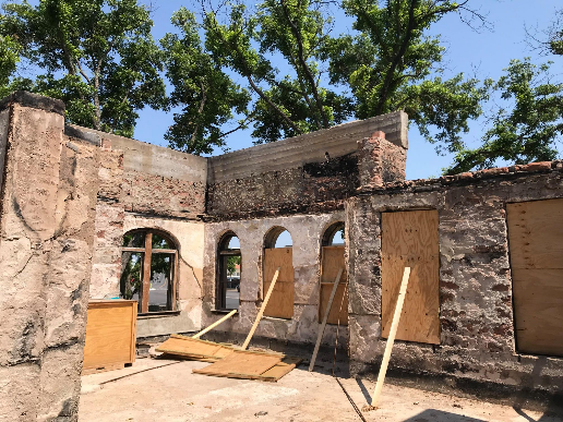 The Mason County Courthouse was destroyed by a fire in February, and state lawmakers approved $6 million to help restore it. (Photo courtesy of Rep. Andrew Murr)