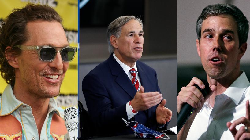 McConaughey, Abbott, Beto