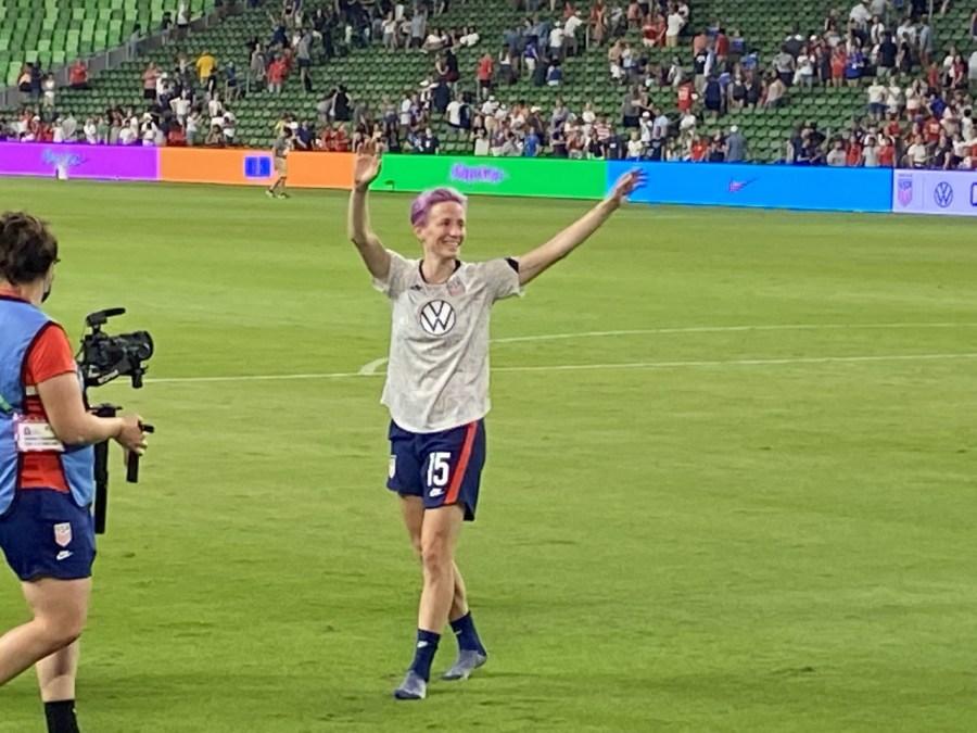 Megan Rapinoe at Q2 Stadium