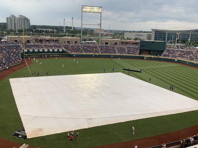 Rain delay College World Series