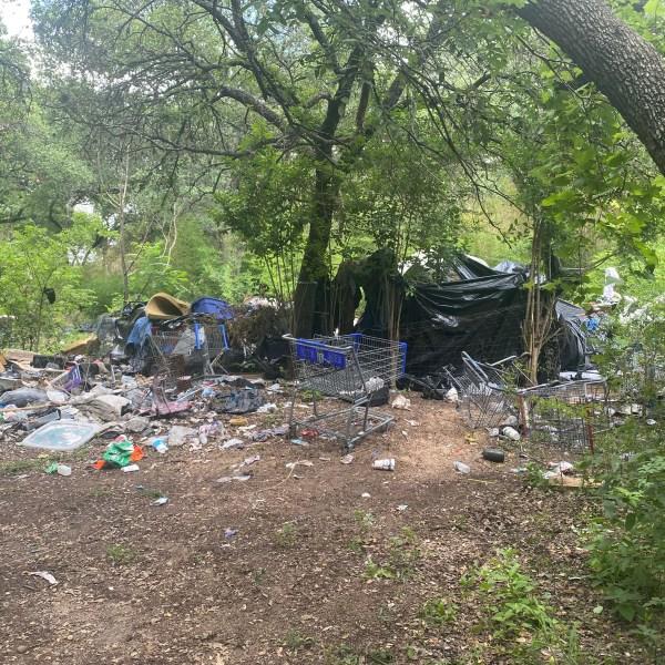 Camp near the Park Ridge neighborhood in south Austin (KXAN Photo)