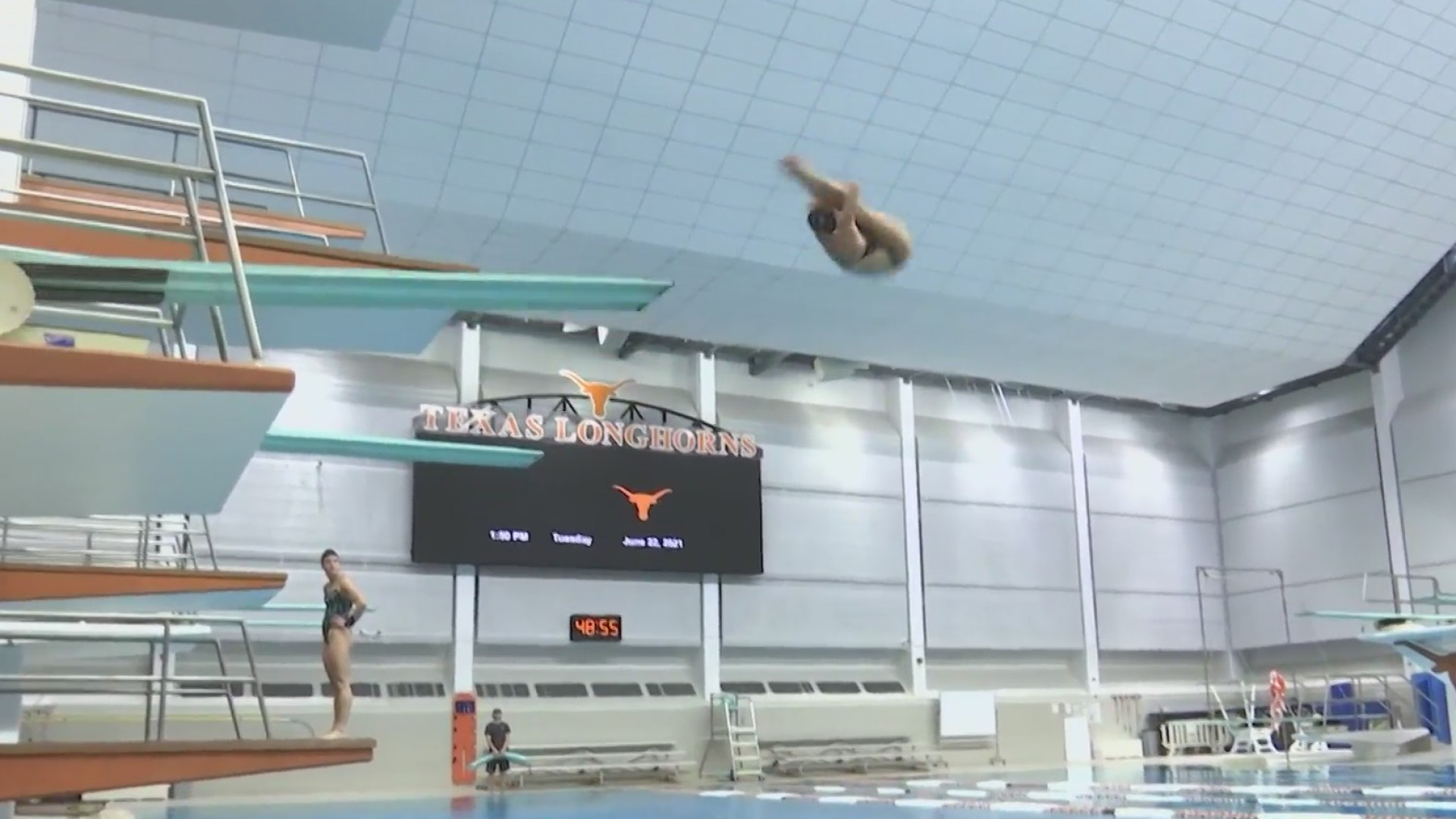 Alison Gibson will make her Olympic debut in synchronized diving at the Tokyo Games this summer. (KXAN photo)