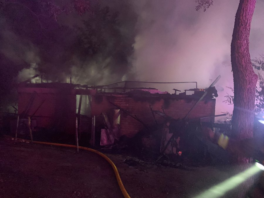 A home was destroyed in north Austin early Wednesday morning. AFD said there were no injuries reported as a result of the fire. (AFD photo)