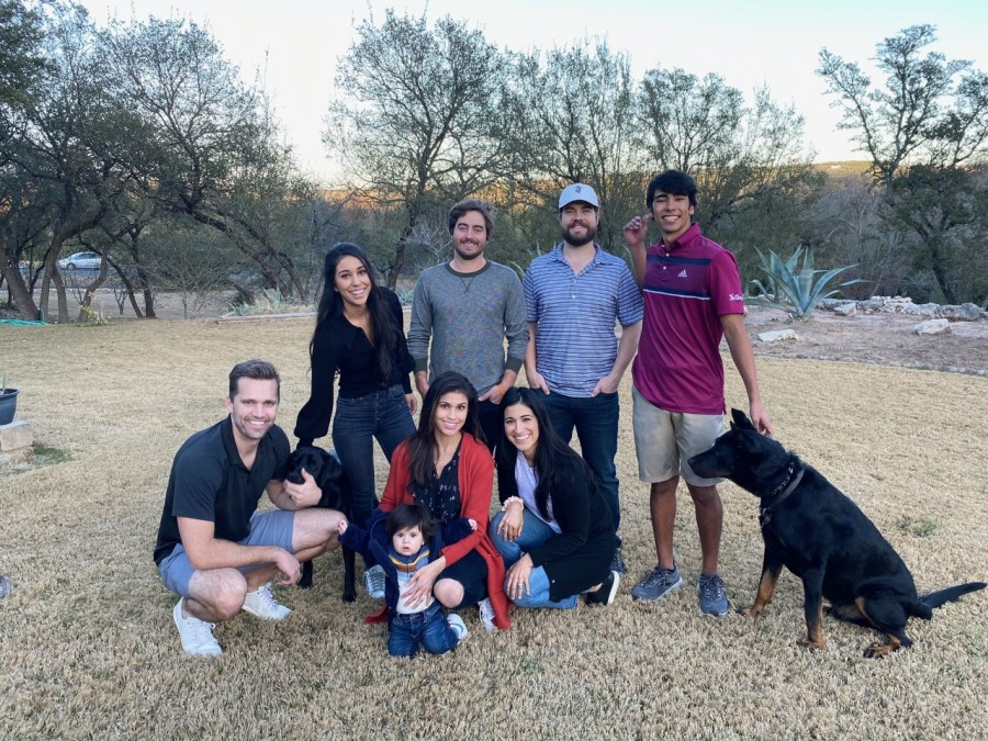 Britt Moreno shared this family photo from Christmas and is looking forward to more family time now that she's back in Austin (Courtesy Britt Moreno)