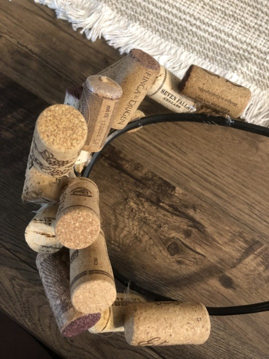 """The corks curve with the crown for a more """"stately"""" appearance."""
