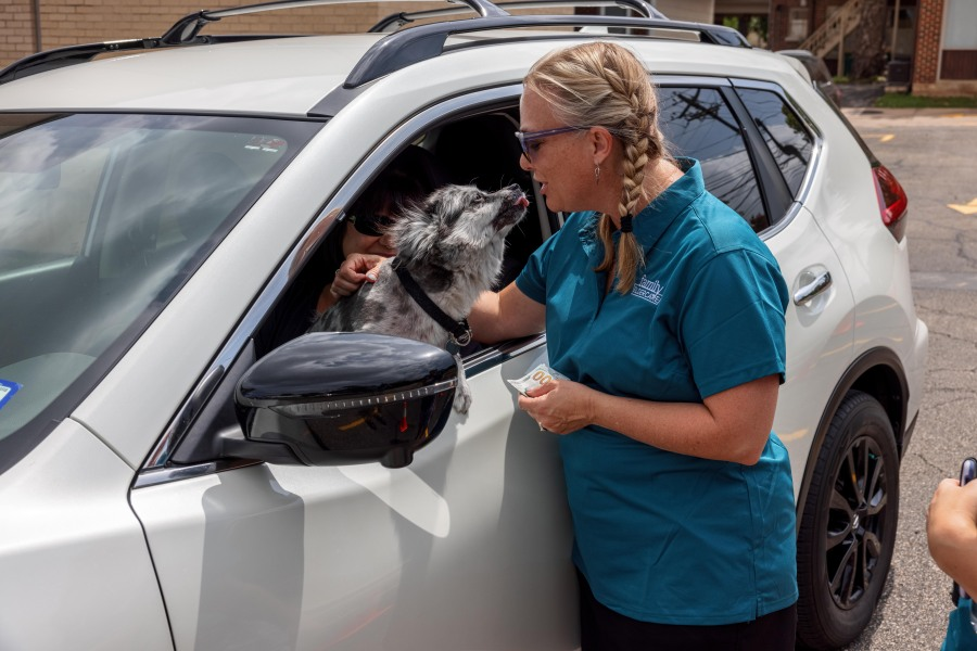 Volunteers were out at a few locations Friday, July 16, including the KXAN studio, to help collect donations for the 31st Family Eldercare Summer Fan Drive (Photo: Family Eldercare)