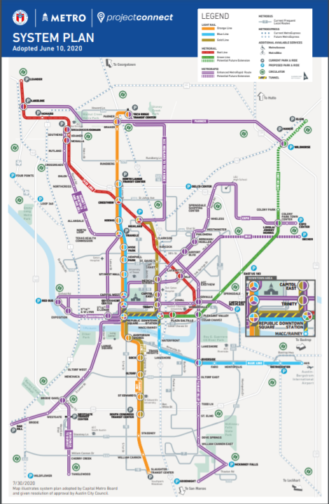 Capital Metro is kicking off a series of public meetings on Tuesday that will run through Aug. 5 for the Orange and Blue Line projects (Courtesy of CapMetro)
