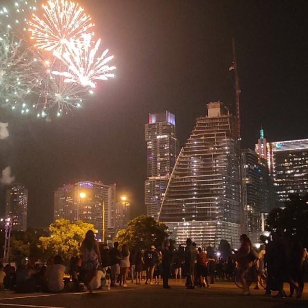 Downtown Austin fireworks July 4 2021