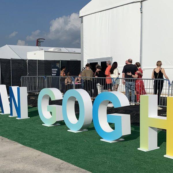 The 'Beyond Van Gogh' exhibit is currently running at Circuit of the Americas in Austin. (KXAN Photo/Eric Henrikson)
