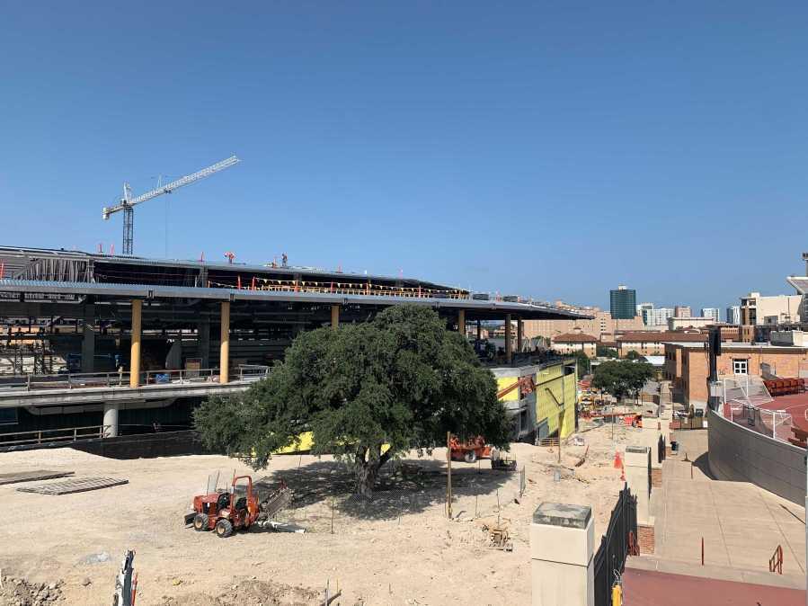 Construction at the Moody Center (KXAN photo/Andy Way)