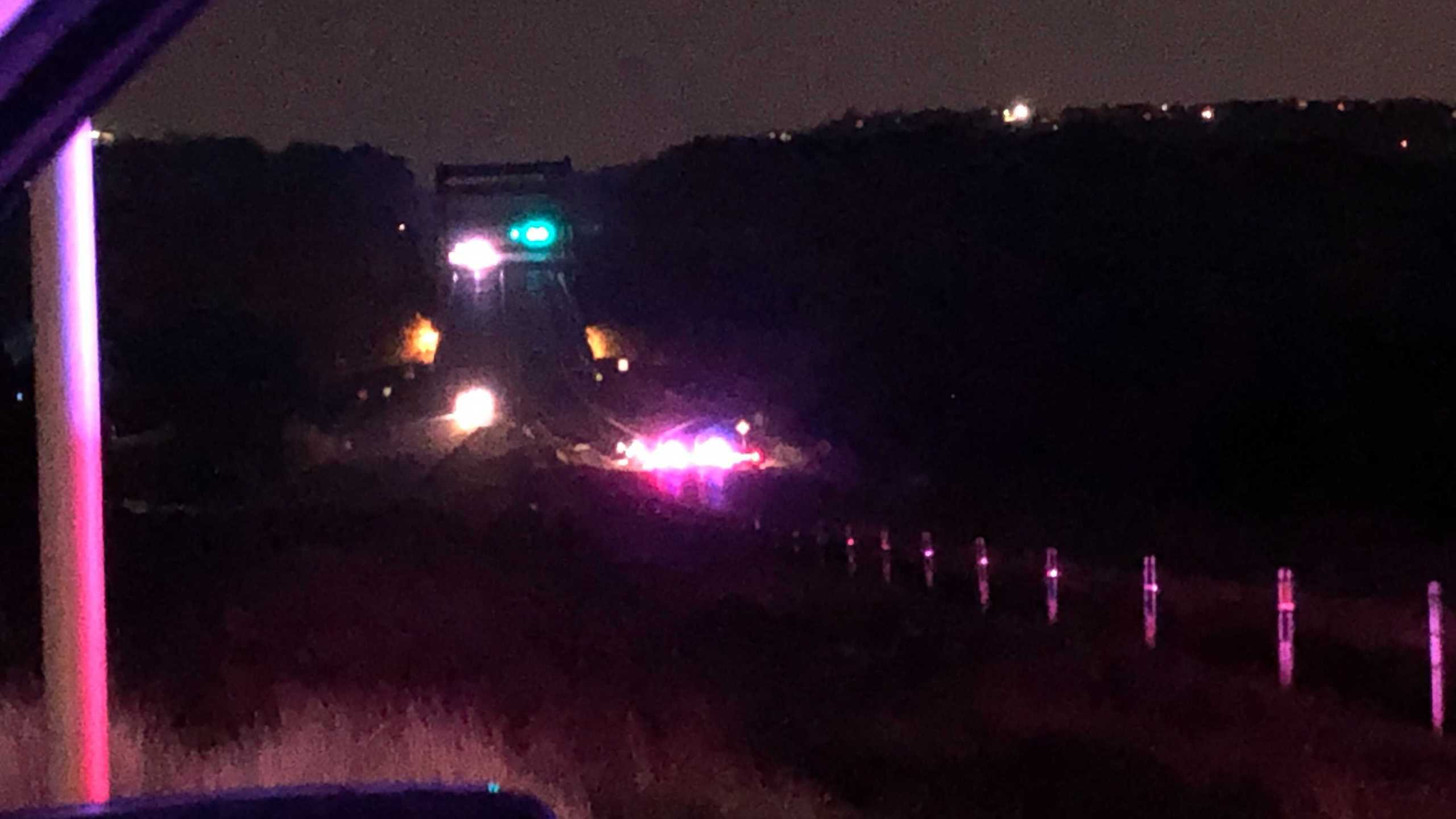 One person died and four others are in the hospital after a crash on Loop 360 early Friday morning. (KXAN photo/Julie Karam)