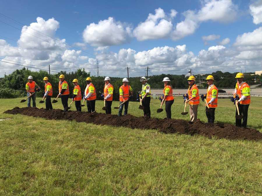 """Groundbreaking for the Oak Hill """"Y"""" project July 1, 2021 (KXAN Photo/Ed Zavala)"""