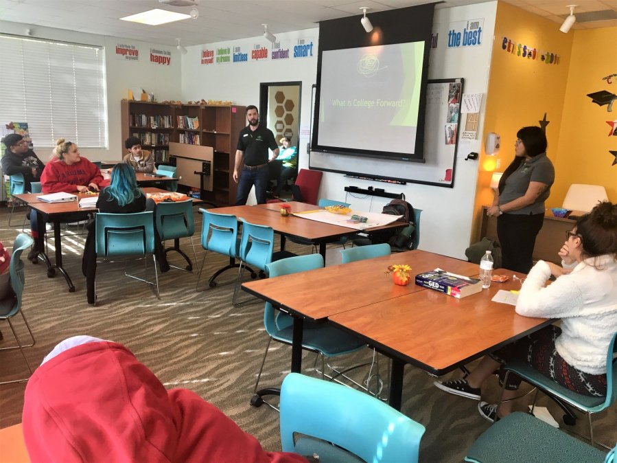 Classroom-style course for those experiencing homelessness