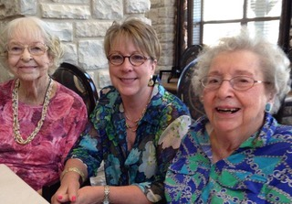 Sharon Butler, pictured with her mother (right) and mother-in-law (left) when the women were in assisted living in the Austin area. (Courtesy Sharon Butler)