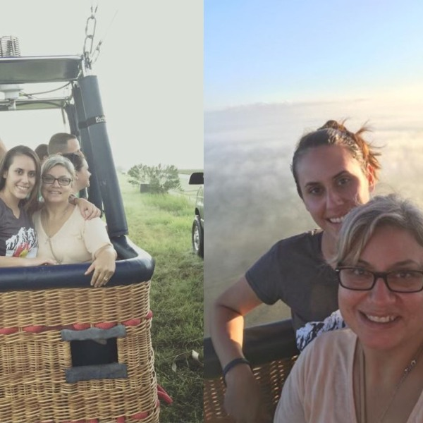 Patricia Morgan's daughter and granddaughter, Paige and Lorilee Brabson, pictured on the hot air balloon ride that ultimately claimed their lives in 2016. (Photos provided by Patricia Morgan)