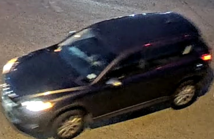 The man reportedly drove away in a vehicle described as possibly being a dark gray or black 2016-2021 Mazda CX-3 (APD)