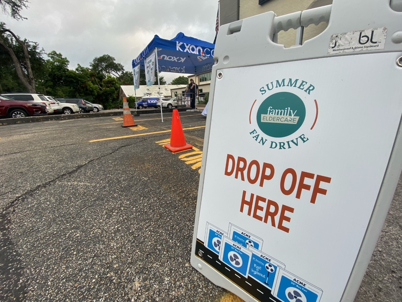 Head down to the KXAN studio to donate at the Family Eldercare Summer Fan Drive. (KXAN photo/Billy Gates)
