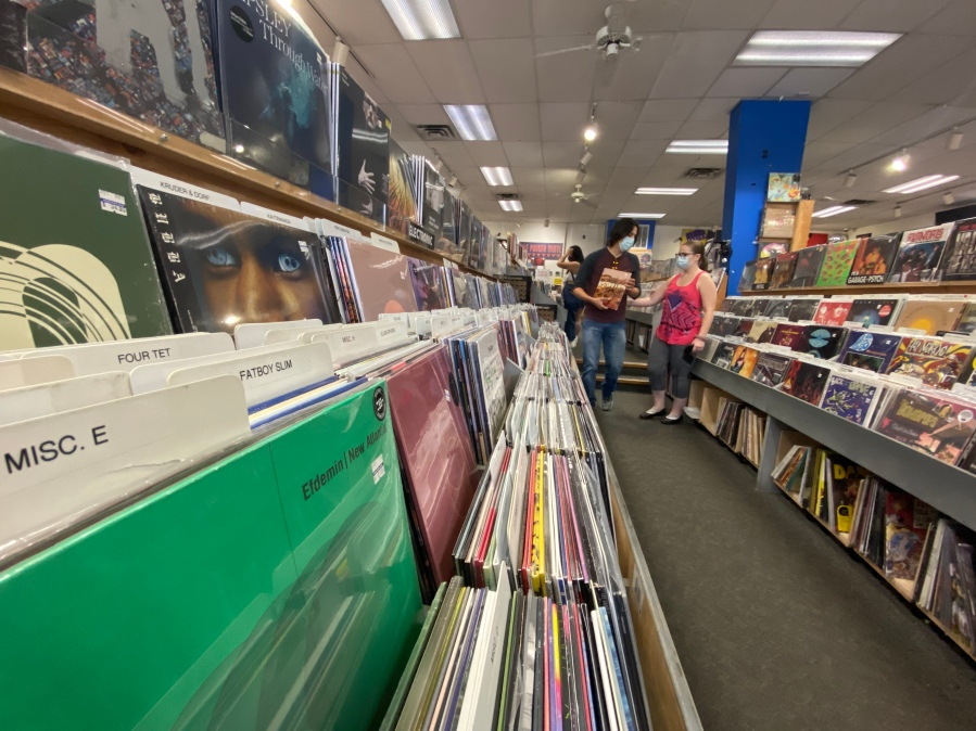 People shop for records