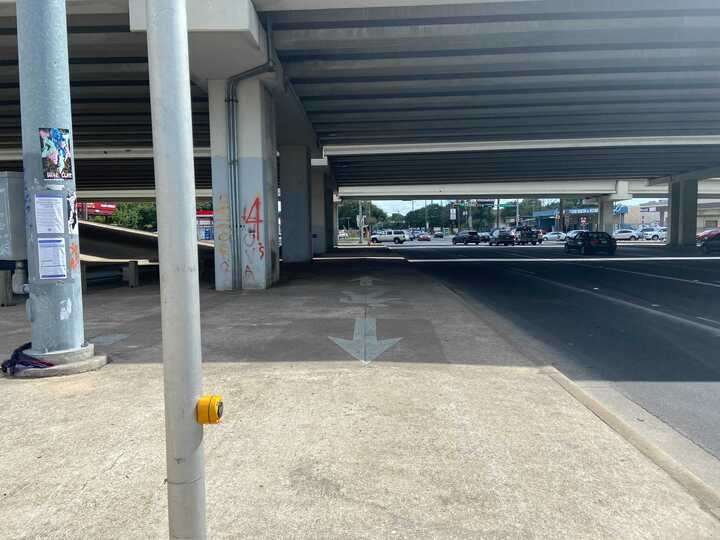 Clear underpass