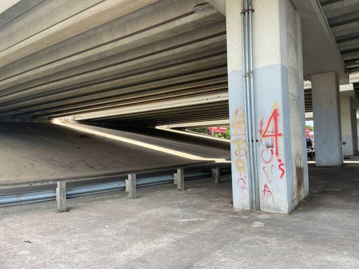 The city moves a camp from an overpass in South Austin