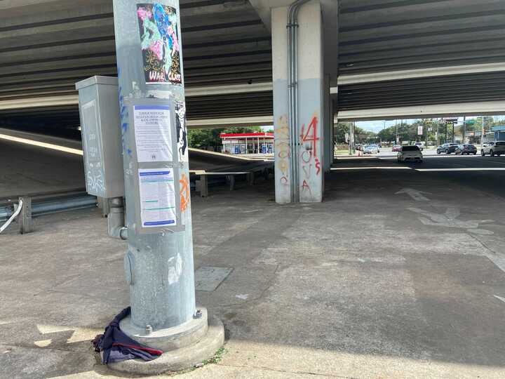 Underpass clear after City moves residents