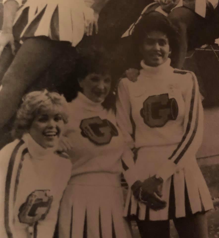 Leslie Goodlow with her fellow cheerleaders at her high school in Portland. (Courtesy Leslie Goodlow)