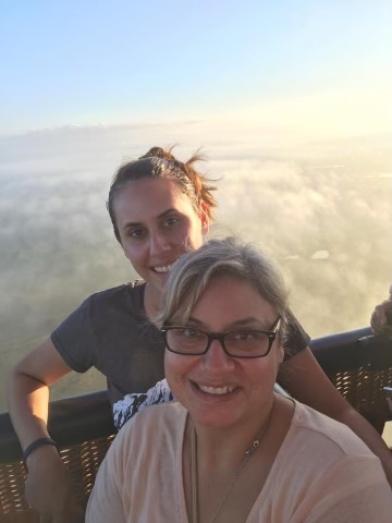 Patricia Morgan's daughter and granddaughter, Paige and Lorilee Brabson, pictured on the hot air balloon ride that ultimately claimed their lives in 2016. (Photo provided by: Patricia Morgan)