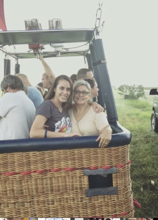 Patricia Morgan's daughter and granddaughter, Paige and Lorilee Brabson, pictured on the hot air balloon ride that ultimately claimed their lives in 2016. (Photo provided by Patricia Morgan)