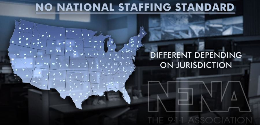 NO NATIONAL STAFFING STANDARD: The National Emergency Number Association (NENA) has certain operational standards for 9-1-1 centers, but there are no such standards for staffing. The organization says 9-1-1 centers vary widely based on the jurisdiction and are controlled at the state or local level (KXAN Graphic).