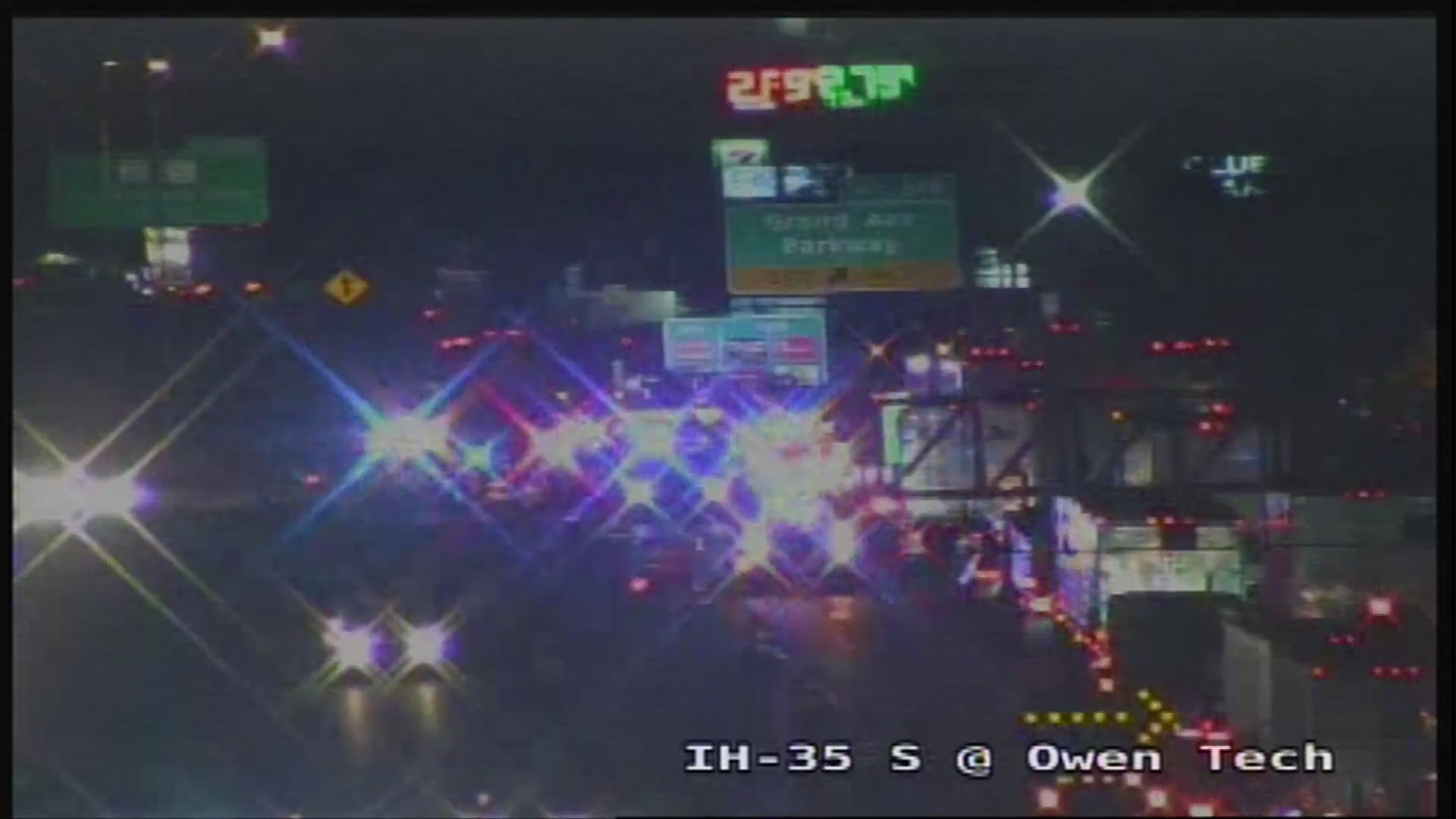 I-35 NB is closed Wednesday morning near Grand Avenue Parkway in far north Austin due to a crash involving at least one 18-wheeler.