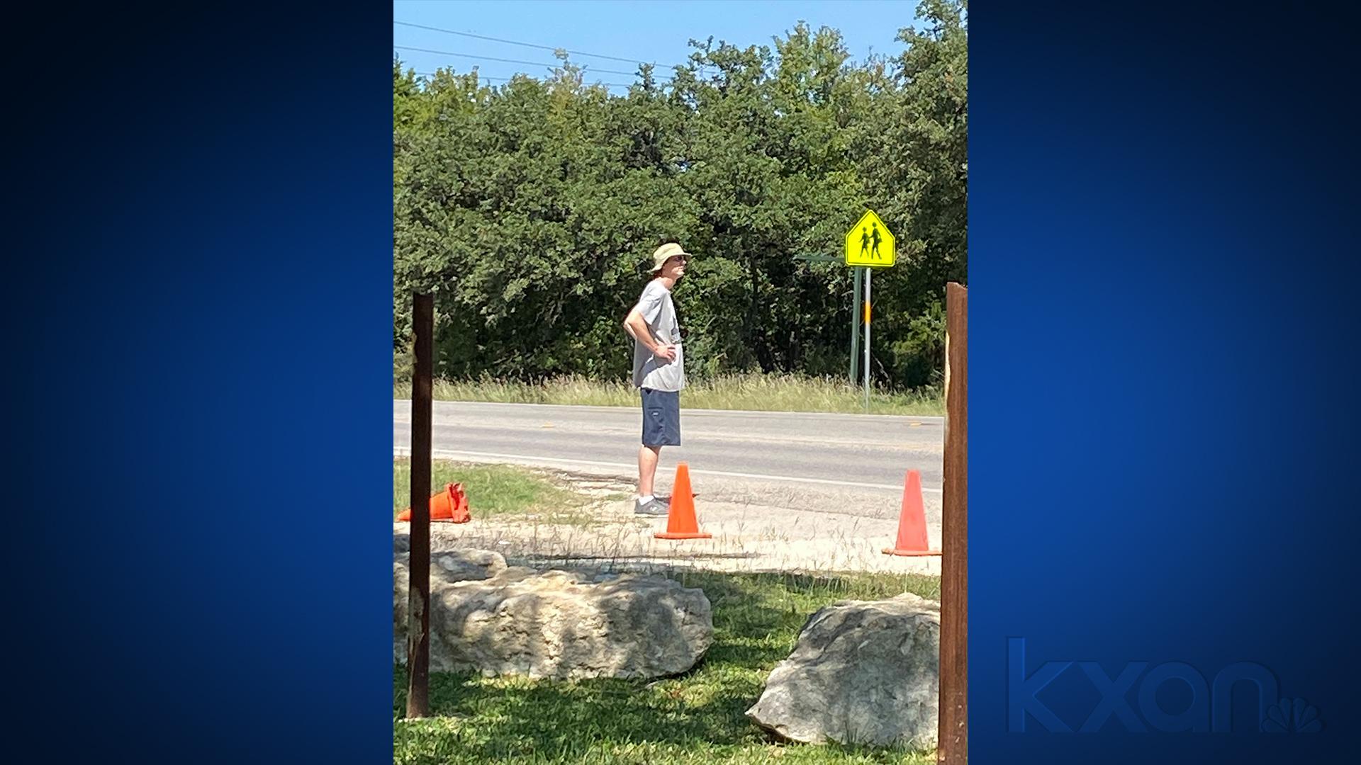 The graffiti suspect Hays County Sheriff's Office is looking for. (Hays County Sheriff's Office photo)