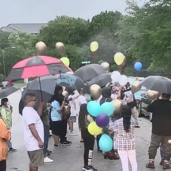 The family of Alex Gonzales holds a vigil on what would have been his birthday, Monday, August 2. (KXAN Photo)