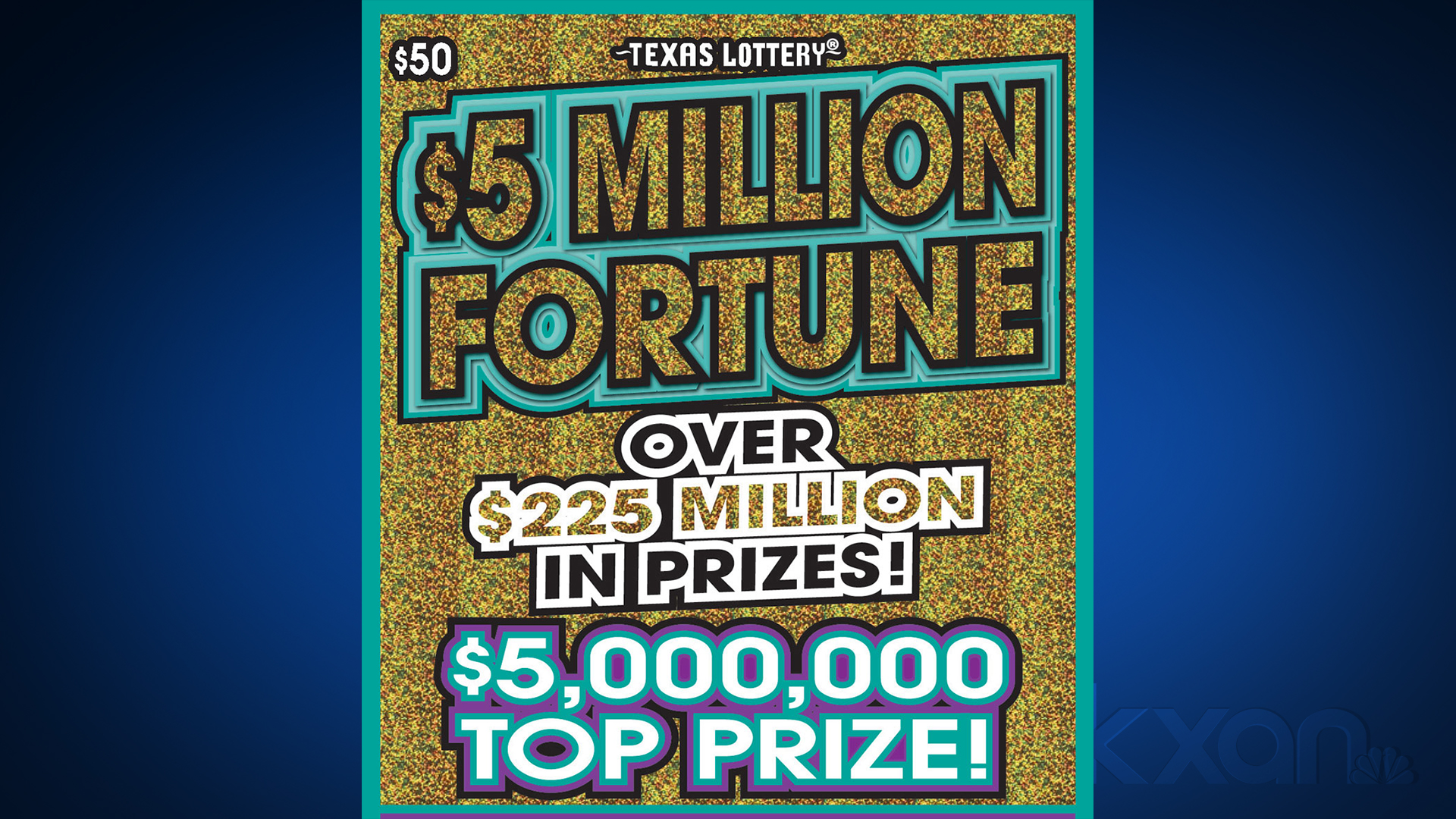 """An Austin resident claimed the top prize in Texas Lottery's """"$5 Million Fortune"""" scratch game, officials said Monday,"""