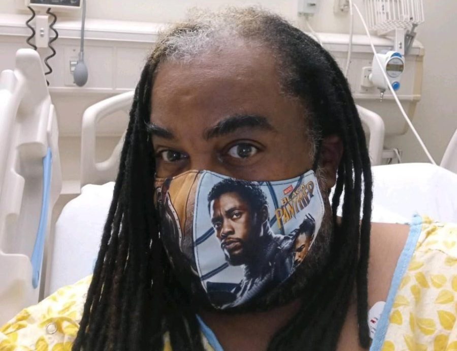 Andre Terry in the hospital