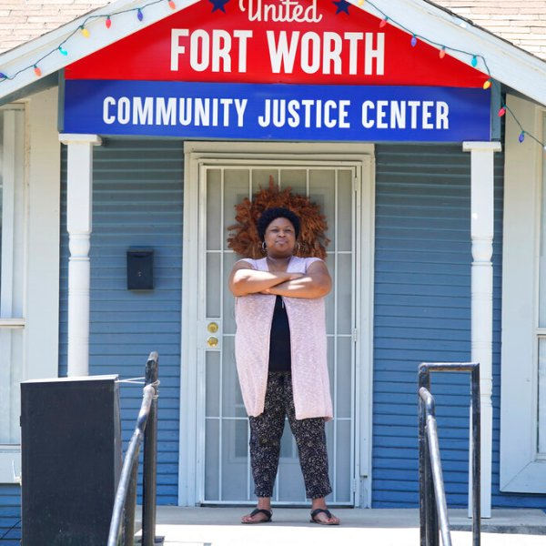 Pamela Young, lead criminal justice organizer for United Fort Worth, a grassroots community organization poses for a photo in Fort Worth, Texas, Tuesday, Aug. 10, 2021. The Census Bureau is due to release new data on the nation's changing population. The numbers scheduled to come out Thursday, Aug. 12 will show that dozens of counties across 18 states no longer have a majority racial or ethnic group. (AP Photo/LM Otero)