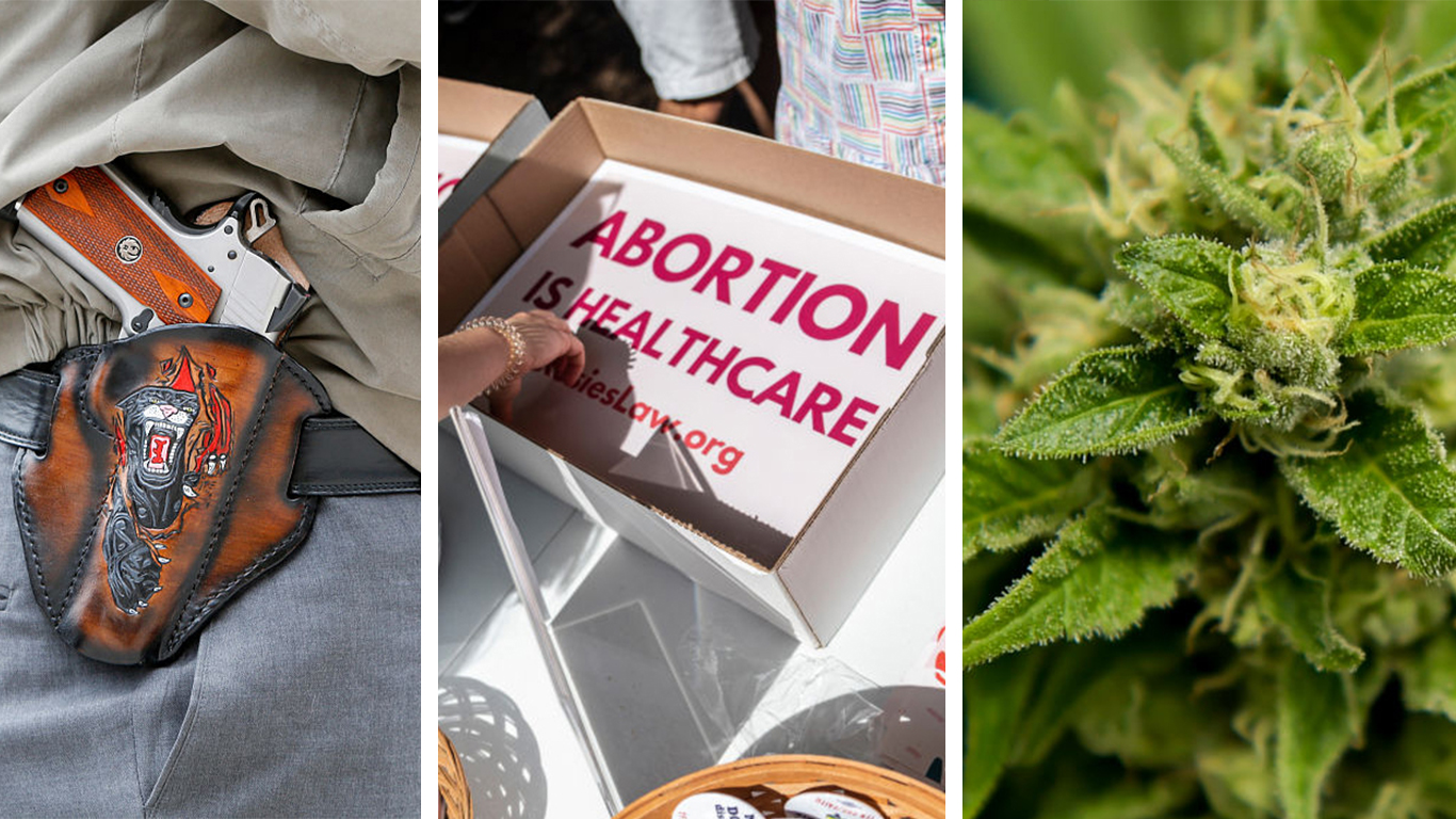 More than 600 bills passed during the Texas Legislative Session will go into effect Wednesday, including the constitutional carry bill, fetal heartbeat abortion bill and expanded medical marijuana use. (Getty Images)
