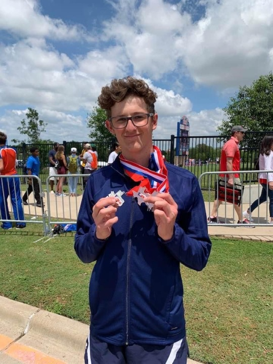 Cameron Stewart was a champion hurdler and ran during the Junior Olympics in 2017. (Courtesy Stewart Family)