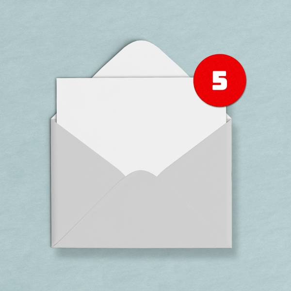 grey envelope with notification-Email concept