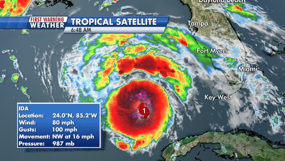 WATCH: Ida Intensifying; Likely to be a Life-Threatening Storm for Louisiana and Mississippi
