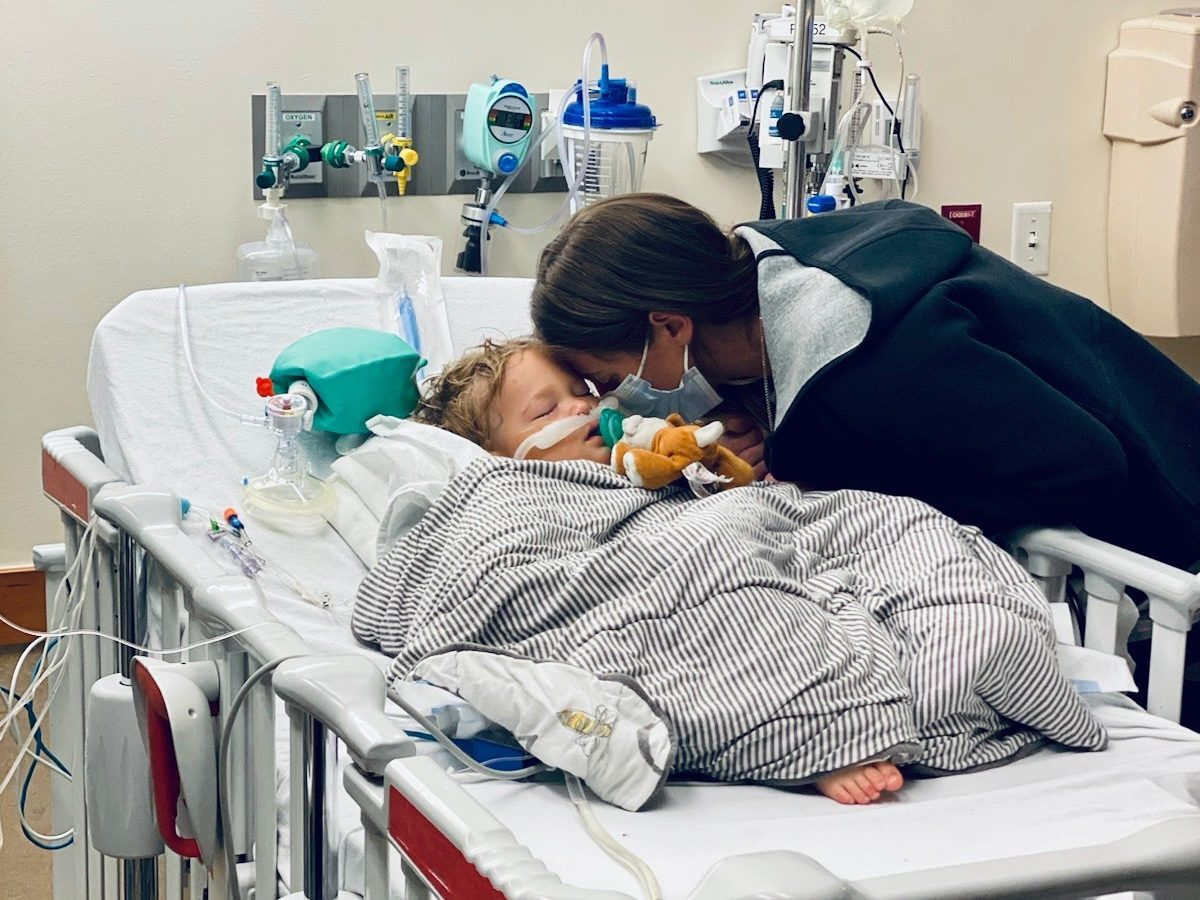 After a near-death allergy attack in their 21-month-old son, Cameron and Rebecca Caldwell are raising awareness on the dangers of food allergies in children. (Courtesy: Rebecca Caldwell}
