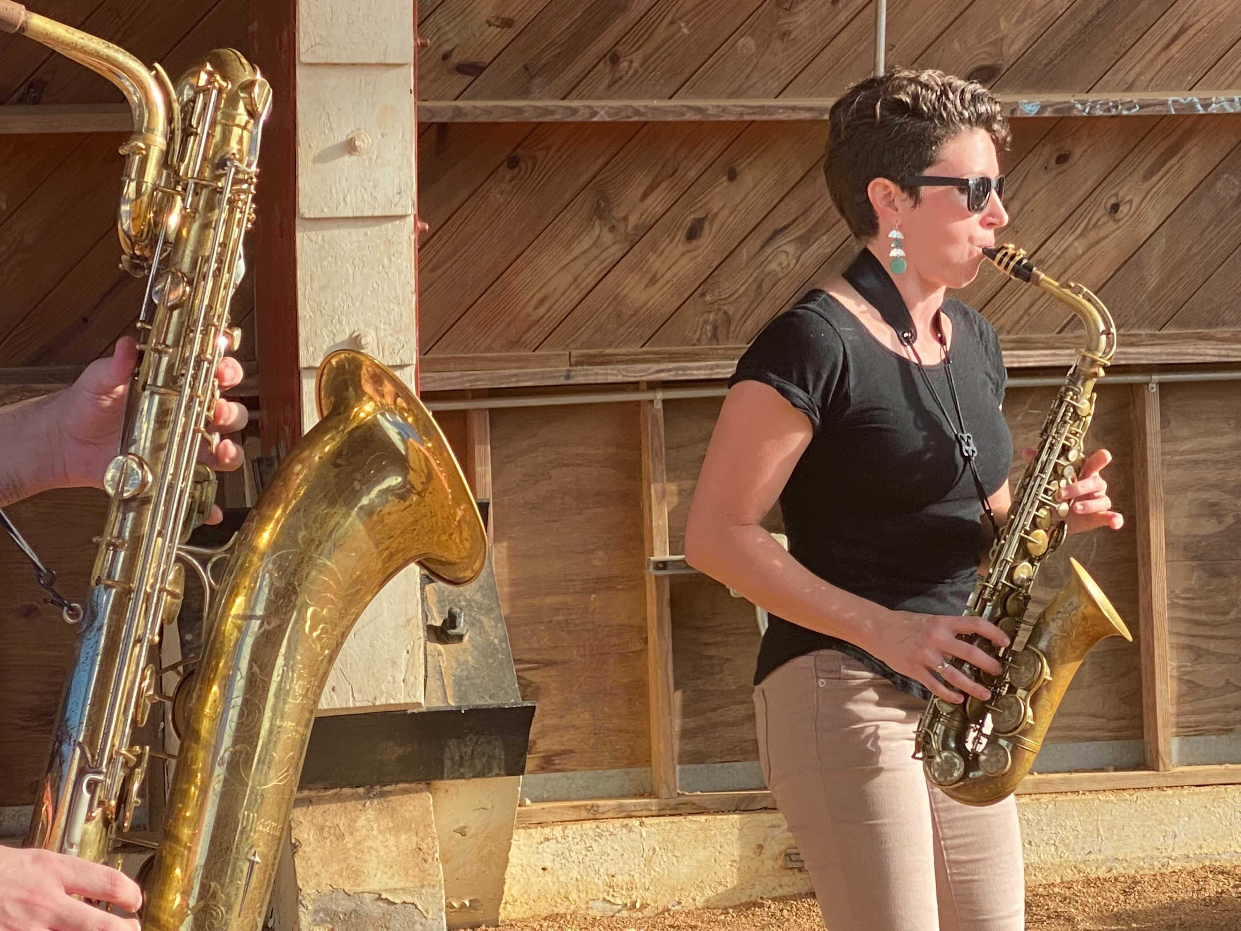Meow Now Brass Band says they've canceled all their indoor shows as COVID-19 cases rise in Austin-Travis County (KXAN Photo/Tahera Rahman)