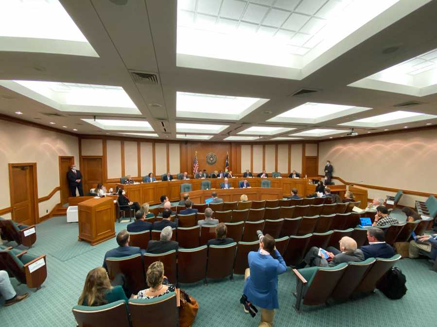 A committee tasked by Lt. Gov. Dan Patrick to look at the future of college sports in Texas held its first hearing Monday. (KXAN photo/Wes Rapaport)