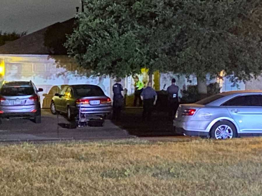 A Pflugerville police officer shot and killed someone who they say had a weapon and was trying to break down a door on Larnak Loop early Wednesday morning. (KXAN photo/Nabil Remadna)