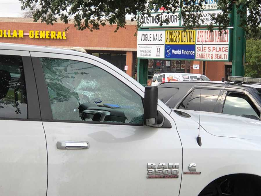 Two people were shot and one suffered life-threatening injuries Wednesday morning near I-35 and Rundberg Lane. (KXAN photo/Julie Karam)