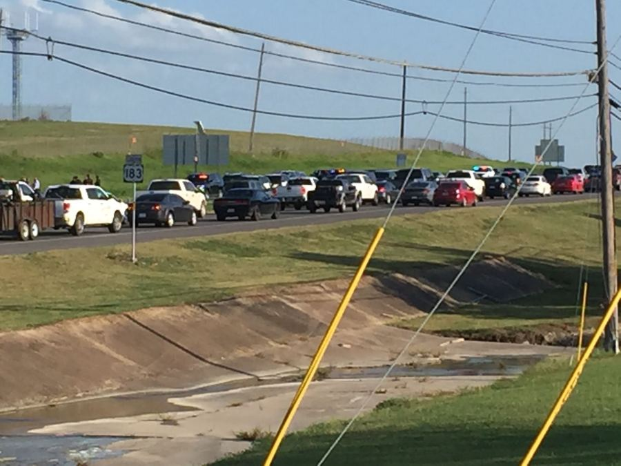 Traffic from OIS shooting on US 183